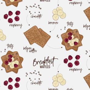 Breakfast waffles receipe