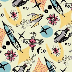 spaceships Pink