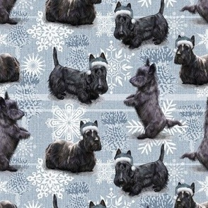 The Christmas Scottish Terrier Scottie Dog