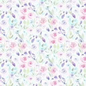 Bed of Blooms B|Pink Purple Blue Flowers|Renee Davis
