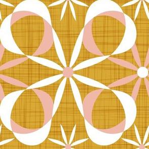 Charleston - Goldenrod & Blush Mid Century Modern Geometric Jumbo Scale