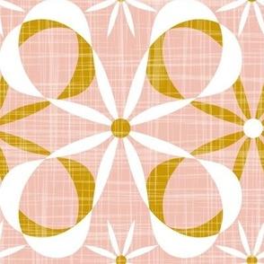 Charleston - Blush & Goldenrod Mid Century Modern Geometric Jumbo Scale