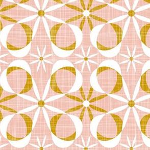 Charleston - Blush & Goldenrod Mid Century Modern Geometric Large Scale