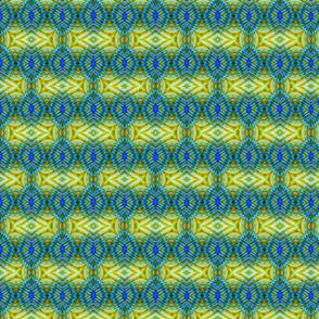 Blue & Green Thumbprint Stripes