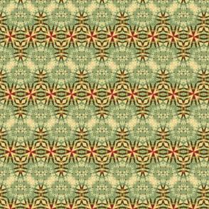 Red & Green Soft Starburst Zigzag