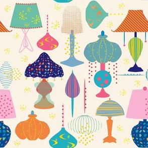 vintage kitsch lamps