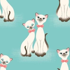 Kitsch Kitties - Aqua