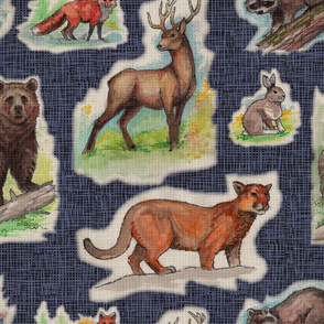 Vintage Woodland Wildlife Animals