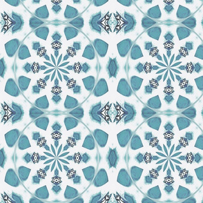 Dusty Teal PETALS Medallions