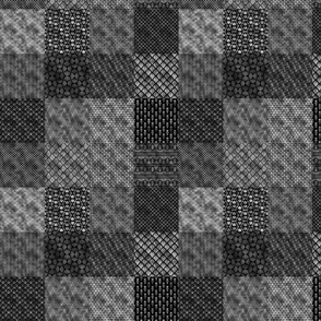 Small Silver and Black Vintage Art Deco Quilt Pattern