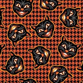 Halloween Cats Houndstooth Mini