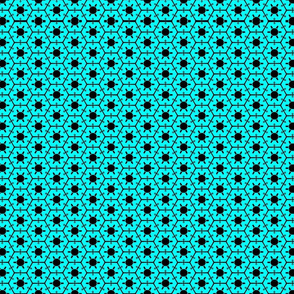 Blue and Black Hexies