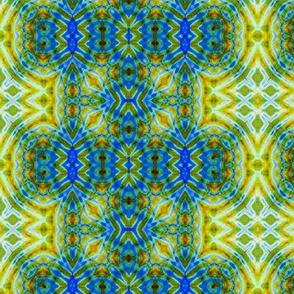 Blue, Green & Yellow Geometry Stripes