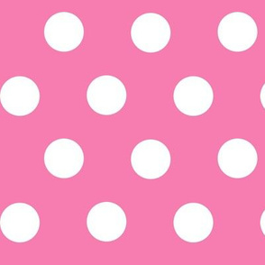 White On Pink Polka Dots