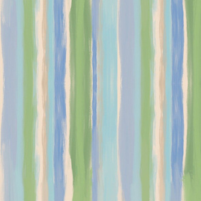 Soft Sea Foam Beach Stripes