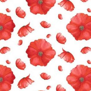 Red Heads 2|Smaller Red Poppy FlowerRenee Davis