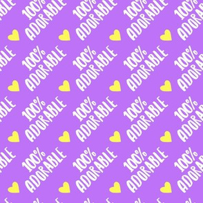 100% adorable  - rotated 45  - purple - C20BS