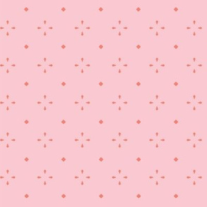 Diamond Flowers - Pink & Coral - Small
