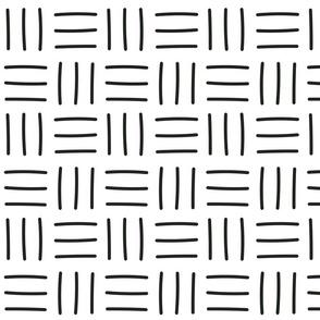 Black and White Mudcloth Boho Pattern