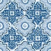 Classic Blue Printed Tiles