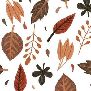 Warm Bohemian Leaves
