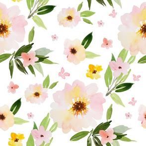 "18"" Pink Pastel Watercolor Florals"