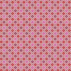 Cross Stitch Geo (red)
