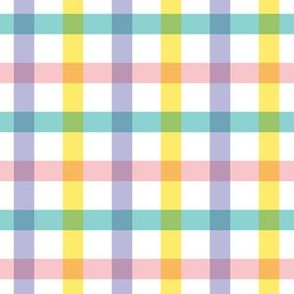 "6"" Spring Pink Lilac Yellow Gingham"
