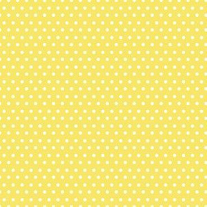 "6"" Yellow and White Polka Dots"