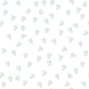 """6"""" Minty Green Hearts"""