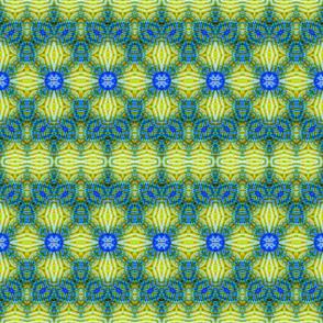 Woven Green & Blue Bubble Ribbons