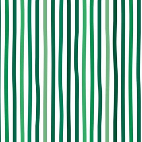 Little St Patrick's Day Irish stripes basic minimal strokes spring summer green and white
