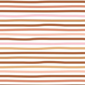 Little fall stripes basic minimal strokes spring summer vintage brown rust copper ochre pink