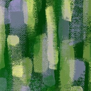 Brush trails green-yellow-lavender