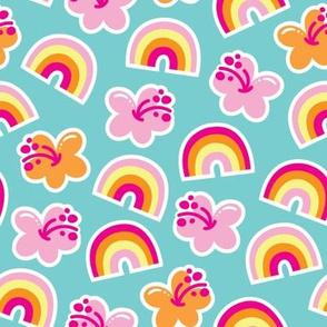 aloha rainbow hibiscus mix