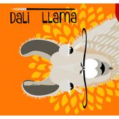Dali Llama tea towel