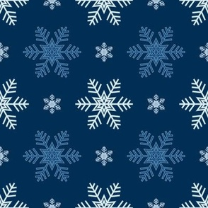 Snowflakes Pattern | Frost Blue