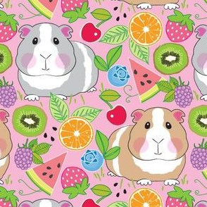 guinea pigs with a fruit salad