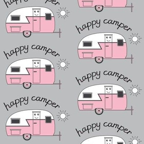 pink happy camper trailers