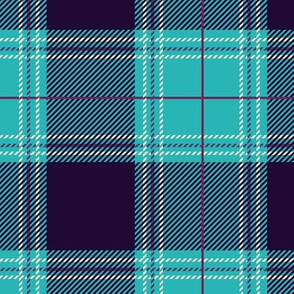 Cyan Purple Plaid V01
