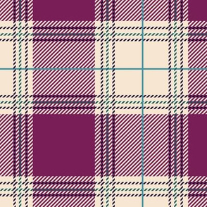 Purple Cream Plaid