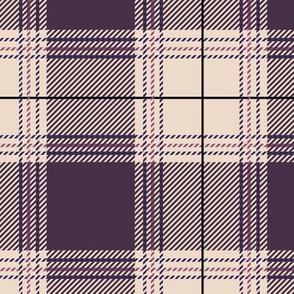 Purple Beige Plaid V01