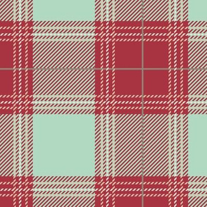 Red Mint Plaid V01