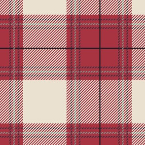 Red Beige Plaid V01