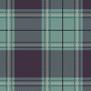 Plum Moss Green Plaid V01