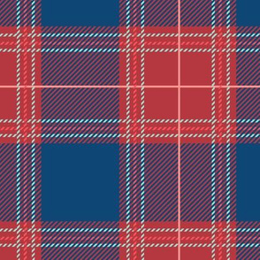 Red Blue Plaid V03