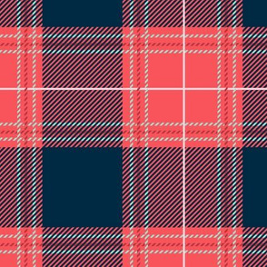 Red Blue Plaid V02