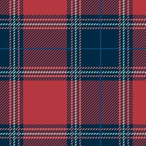 Red Blue Plaid V01