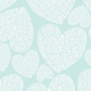Floral heart-mint