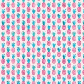 """(3/4"""" scale) pineapples - watercolor pink on pink C20BS"""
